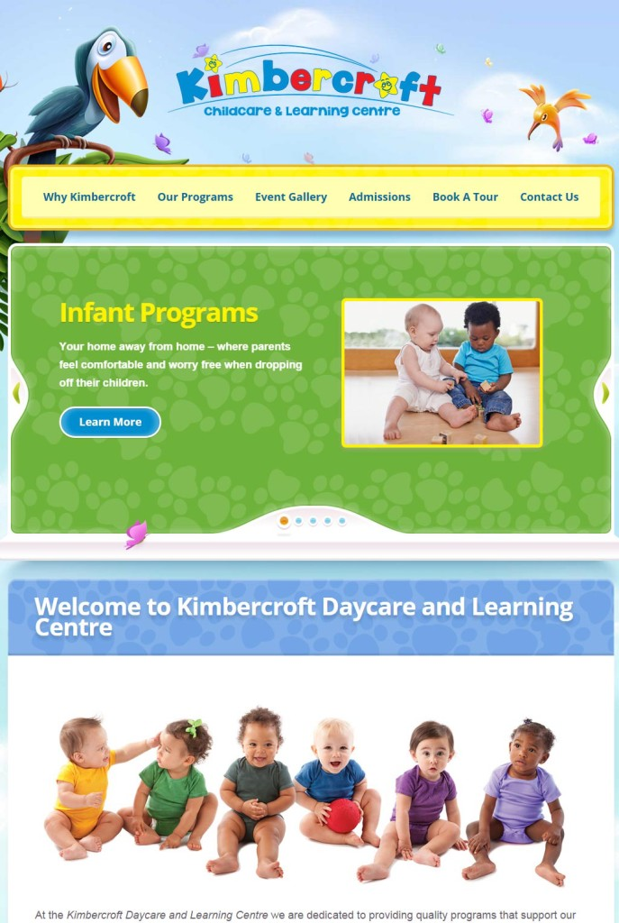 SP Design Studios daycare portfolio website
